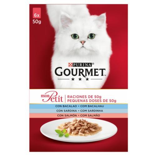 Gourmet Mon Petit multipack selección de pescados para gatos