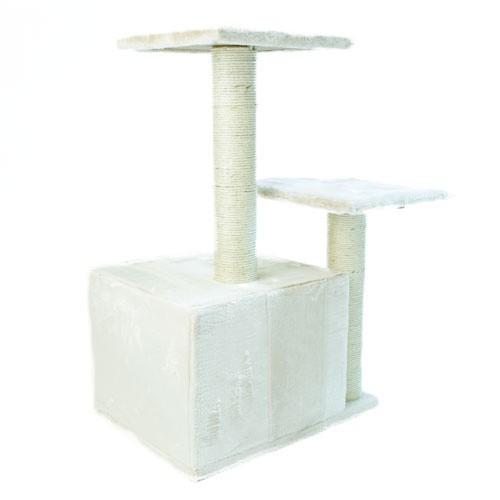 Rascador con refugio y plataformas TK-Pet Corvus marrón