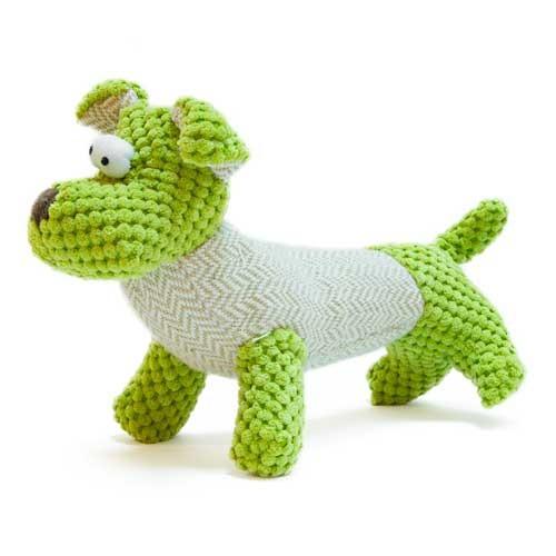 Juguete perrito verde de peluche TK-Pet George