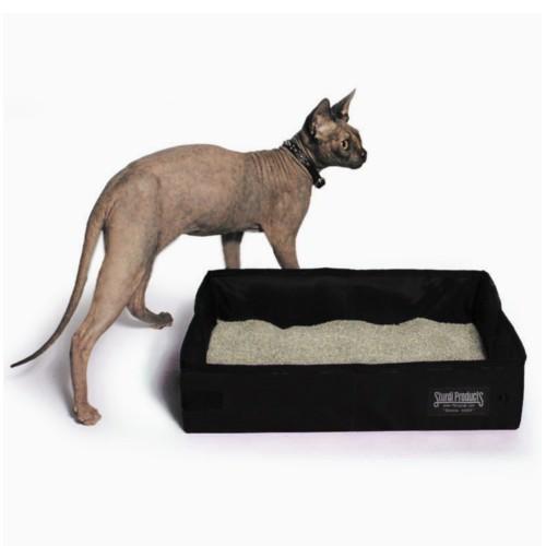 Arenero plegable de tela SturdiBox para gatos