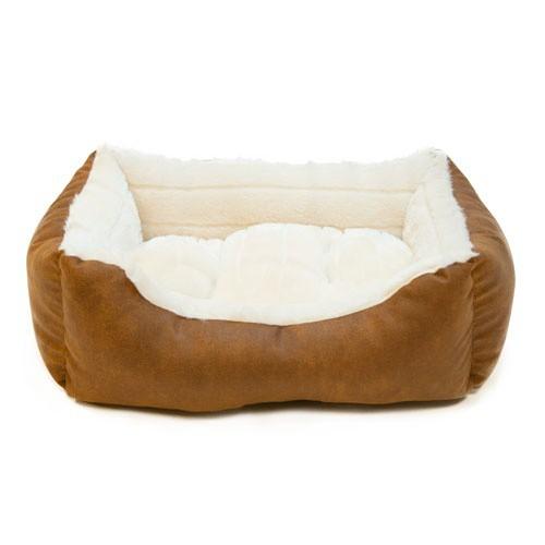 Cuna para perros y gatos Wondermals Miles marrón y beige