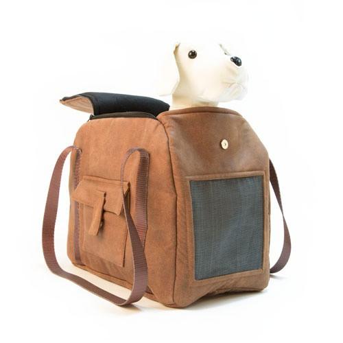 Bolso de transporte para mascotas Wondermals Miles marrón