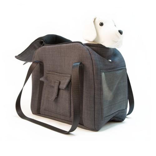 Bolso de transporte para mascotas Wondermals Billie negro