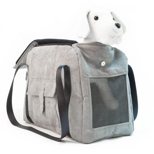 Bolso de transporte para mascotas Wondermals Duke gris