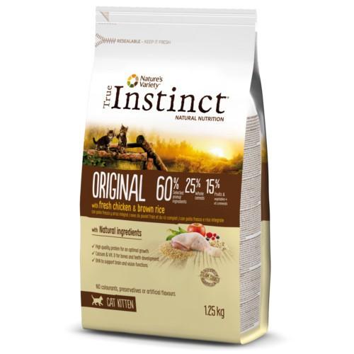 True Instinct Original con pollo para gatitos