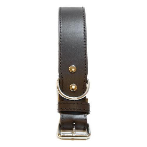 Collar de cuero TK-Pet Clásico marrón