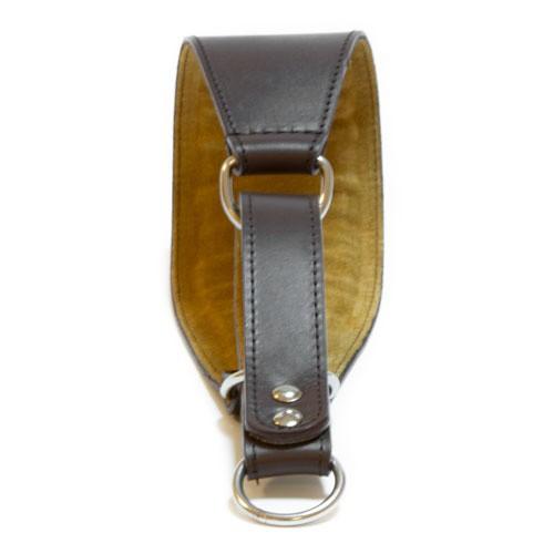 Collar de cuero para galgos Clásico marrón