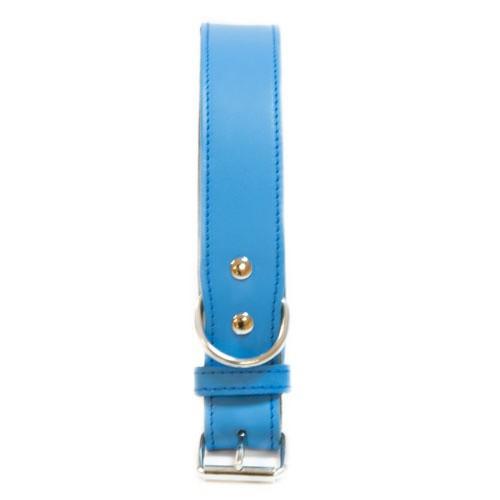 Collar de cuero TK-Pet Clásico azul