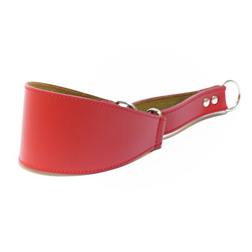 Leather collar for greyhounds Clásico red