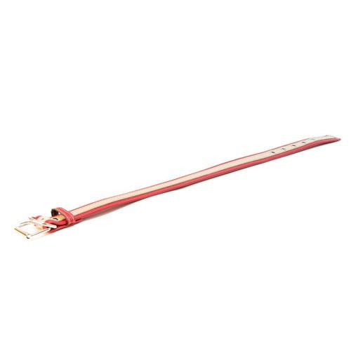 Collar de cuero TK-Pet Luxe bicolor rojo