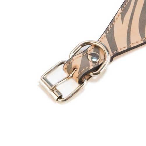 Collar de piel para lebrel TK-Pet Zebra