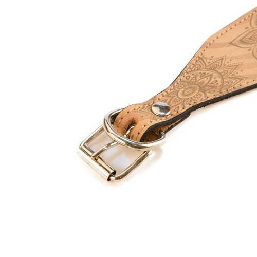 Collar de piel para lebrel TK-Pet Mandala