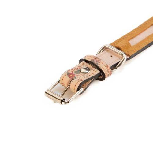 Collar del piel con calaveras TK-Pet Catrina