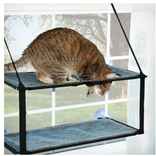 Hamaca doble con ventosas para ventana