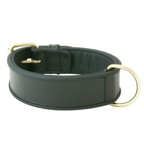 Collar de cuero Urban Gold Basic negro
