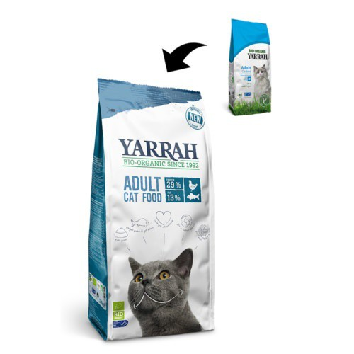 Pienso ecológico Yarrah de pescado para gatos