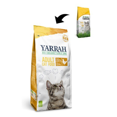 Pienso ecológico Yarrah de pollo para gatos