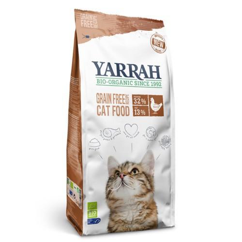 Pienso ecológico Yarrah sin cereales para gatos