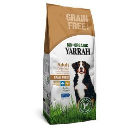 Pienso ecológico sin cereales Yarrah con pollo y pescado
