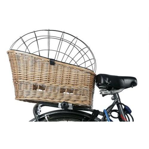 Cesta de mimbre para bicicletas