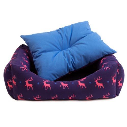 Bed with reindeer TK-Pet Christmas Beni cradle type
