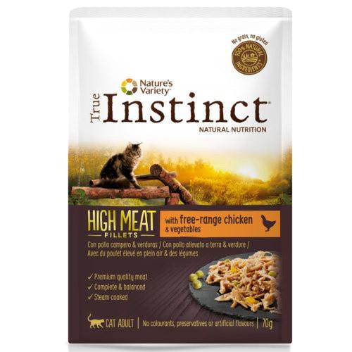 True Instinct High Meat con pollo y verduras