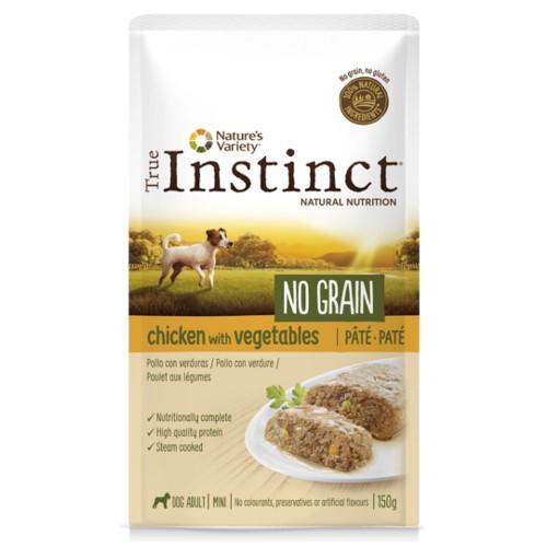True Instinct No Grain Mini paté pollo y verduras