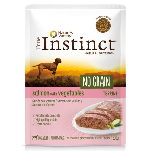 True Instinct No Grain Medium/Maxi Terrine salmón