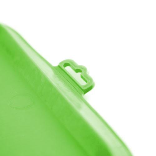 Alfombrilla de goma para comederos TK-Pet verde