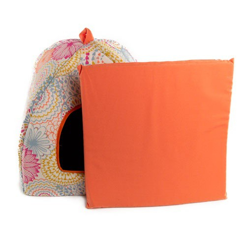 Cama iglú para perros y gatos TK-Pet Blumen