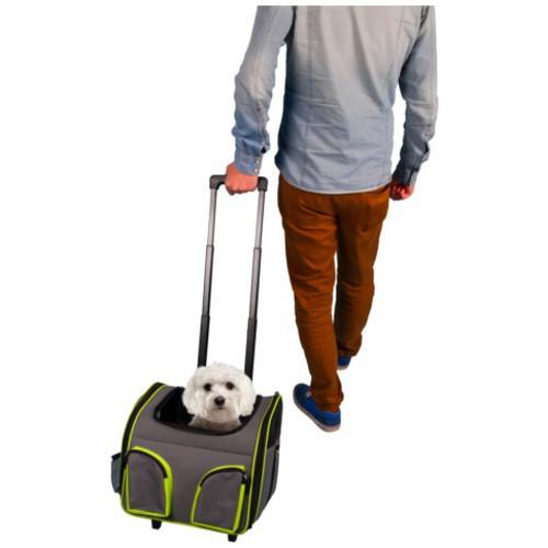 Carro transportín Fluo Trolley para perros y gatos