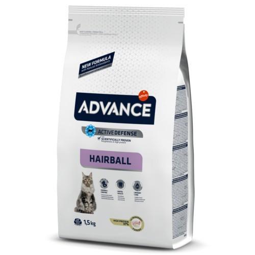 Pienso para gatos Advance Hairball