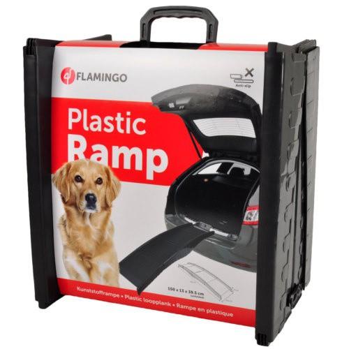 Plastic folding ramp for dogs