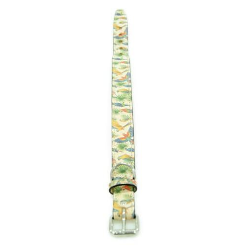 Collar de piel TK-Pet Guacamayo