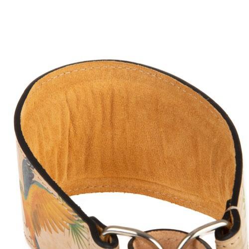 Collar de piel para galgos TK-Pet Guacamayo