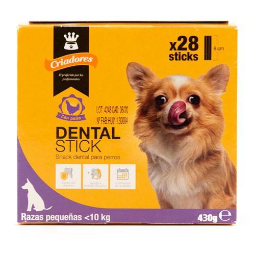 Criadores Dental Stick pollo para perros pequeños