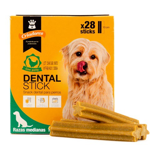 Criadores Dental Stick pollo para perros medianos
