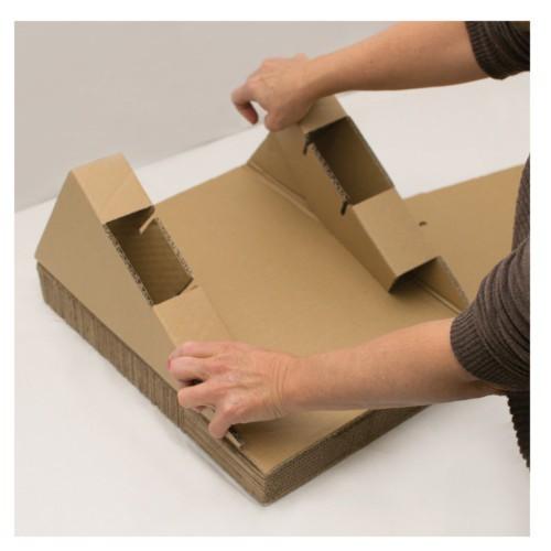 Rampa rascadora de cartón con juguete