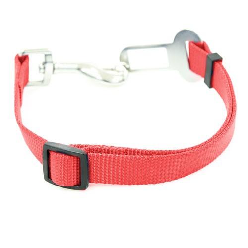Adaptador cinturón de seguridad TK-Pet rojo