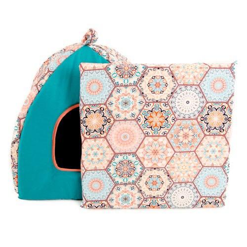 Cama iglú para perros y gatos TK-Pet Mosaico