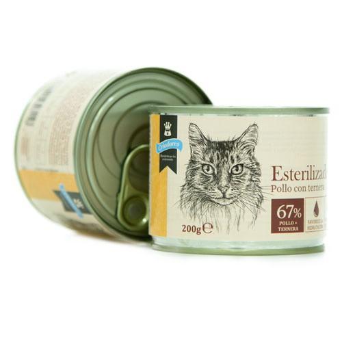 Criadores húmedo gatos esterilizados Pollo y Ternera
