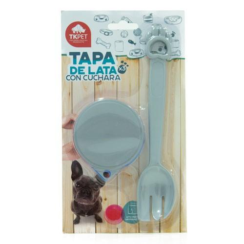 Tapas para latas con cuchara TK-Pet