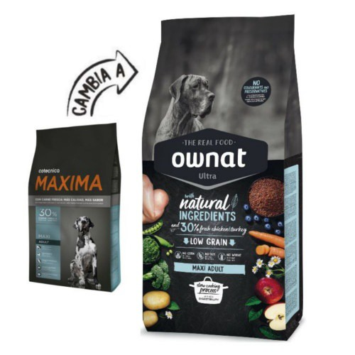 Pienso Ownat Ultra Maxi Adult para perros