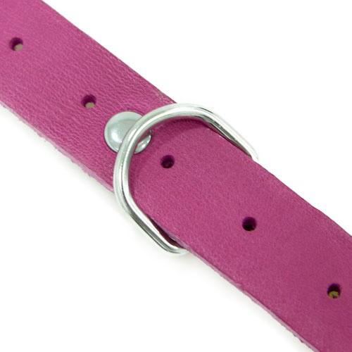Arnés de cuero para perros Royale rosa