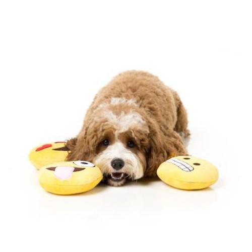 Peluche Emoji Bahaha para perros
