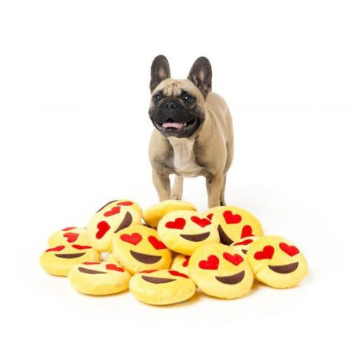 Stuffed Emoji Love Eyes for dogs