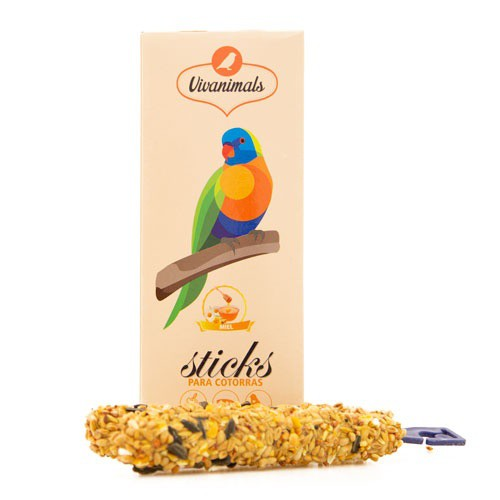 Barritas para cotorras Vivanimals Sticks Miel