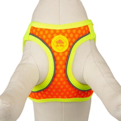 Arnés de alta visibilidad TK-Pet Easy Click naranja