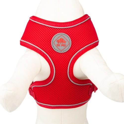 Arnés de alta visibilidad TK-Pet Soft rojo