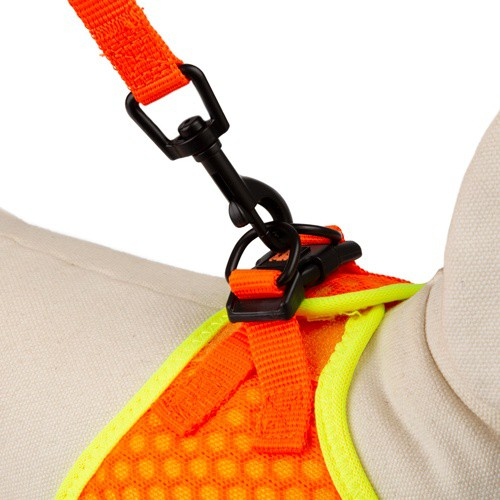 Correa de alta visibilidad TK-Pet Easy Click naranja